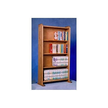 Wood Shed Solid Oak Cabinet for DVDs/VHS Tapes/Books (WDSP051)