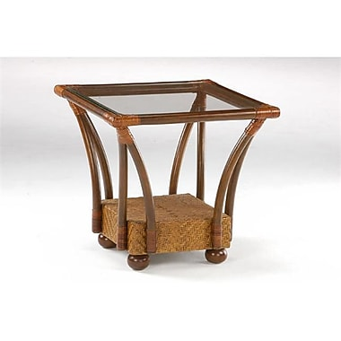 Night and Day Furniture Tulip End Table, Honey Glaze (NADFO472)