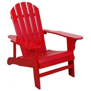 United General Supply Co Inc TX94050 Red Adirondack Chair