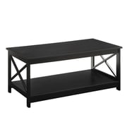 Convenience Concepts Oxford Wood/Veneer Coffee Table, Black, Each (RTL52416)