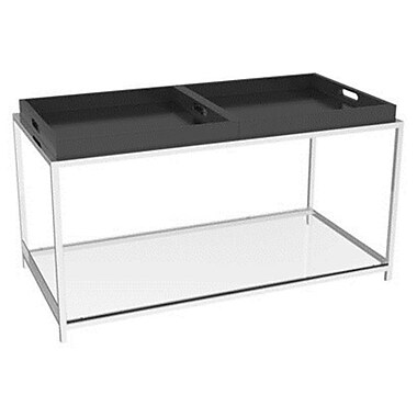 Convenience Concepts Palm Beach Metal Coffee Table, Black, Each (CCL357)