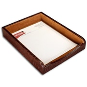 Dacasso A2001 Crocodile Embossed Front Load Letter Tray, Leather (DCSS035)