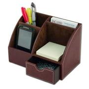 """Dacasso Leather Desktop Organizer, Mocha, 7.85""""L x 5.5""""H x 4.625""""W (DCSS242)"""