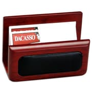 Dacasso Wood and Leather Business Card Holder (DCSS090)