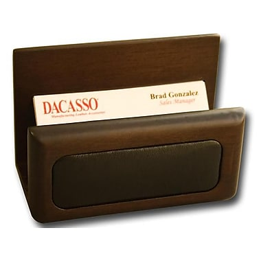Dacasso Wood and Leather Business Card Holder (DCSS096)