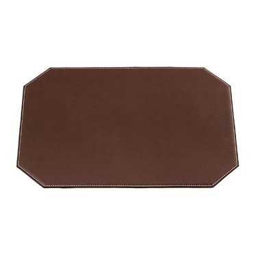 Dacasso 17in x 12in Cut Corner Placemat, Leatherette, Brown (DCSS332)