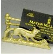 Mayer Mill Brass Fox and Fence Business Card Holder (MYRMB080)