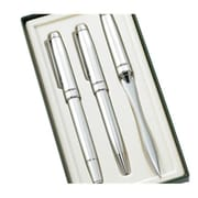 Aeropen International Satin Chrome Ballpoint, Roller Ball, and Letter Opener with Gift Box 3-Piece Set (ARPN477)