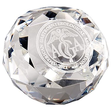 Chass Diamond Cut Glass Award Paperweight (CHAS062)