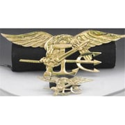 Mayer Mill Brass Navy Seal Plaque, Small, 6in (MYRMB692)