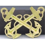 Mayer Mill Brass Small Fouled Anchor Marine Plaque (MYRMB845)