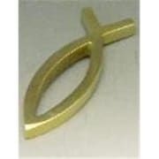 Mayer Mill Brass Ichthus Paperweight, 4in x 1.625in x 0.313in Thick, Fish (MYRMB136)