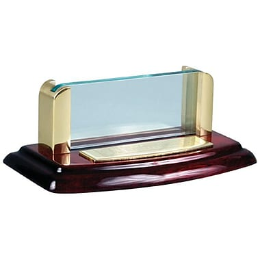 Chass Deluxe Business Card Holder, Wood and Gold Finish (CH262)