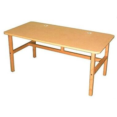 Wild Zoo Furniture Side by Side Desk Tan