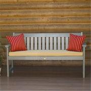 Highwood Lehigh Bench, Recycled Eco-Friendly Synthetic Wood, Coastal Teak (HGWD081)