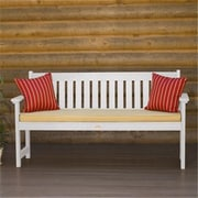 Highwood AD-BENW1-WHE Lehigh Bench, Recycled Eco-Friendly Synthetic Wood, White (HGWD078)