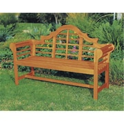 "Achla 66""W x 23""D x 39""H Wood Lutyens Bench, Natural Oil (ACHL2685)"