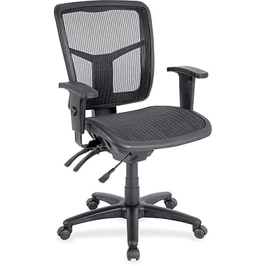 Lorell Fabric Computer and Desk Office Chair, Adjustable Arms, Black (RTL156632)