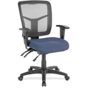 Lorell Plastic Computer and Desk Office Chair, Adjustable Arms, Blue (RTL156634)