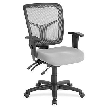 Lorell Fabric Computer and Desk Office Chair, Adjustable Arms, Gray/Silver (RTL156635)