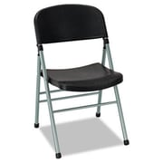 Bridgeport Endura Series Molded Folding Chair, Platinum Frame/Black Back/Seat, 4/Carton (AZERTY18352)