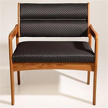 Wooden Mallet DWBA3,1DMOAS Valley Bariatric Guest Chair in Medium Oak , Arch Slate