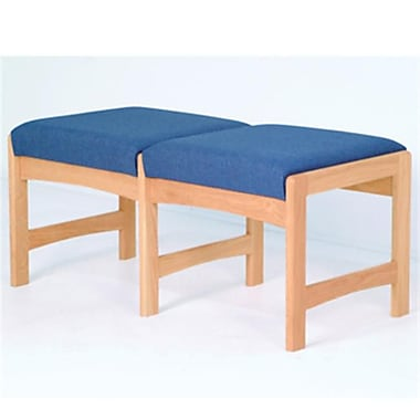 Wooden Mallet Two Seat Bench, Leaf Blue and Medium Oak WDNM1062