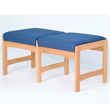 Wooden Mallet Two-Seat Bench in Light Oak/Powder Blue (WDNM1073)