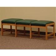Wooden Mallet Three Seat Bench in Medium Oak, Green, WDNM1168