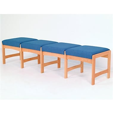 Wooden Mallet Four Seat Bench, Blue and Medium Oak WDNM1238
