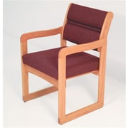 Wooden Mallet Vinyl Valley Guest Chair in Light Oak, Wine (WDNM513)