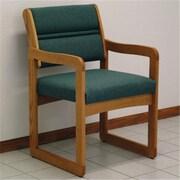 Wooden Mallet Valley Guest Chair in Medium Oak, Foliage Green, WDNM516