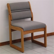 Wooden Mallet Valley Armless Guest Chair in Medium Oak/Charcoal Gray (WDNM707)