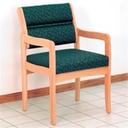 Wooden Mallet Valley Fabric Guest Chair in Light Oak, Leaf Green, WDNM867