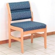 Wooden Mallet Valley Armless Guest Chair in Light Oak/Leaf Blue (WDNM914)
