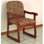 Wooden Mallet Prairie Guest Chair in Mahogany/Watercolor Rose (WDNM1283)