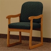 Wooden Mallet DW7,1MOLG Prairie Guest Chair in Medium Oak , Leaf Green