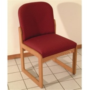 Wooden Mallet DW8,1MOAW Prairie Armless Guest Chair in Medium Oak , Arch Wine