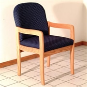 Wooden Mallet Prairie Guest Chair in Light Oak/Arch Blue (WDNM1724)