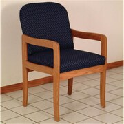 Wooden Mallet Prairie Guest Chair in Medium Oak/Blue (WDNM1774)