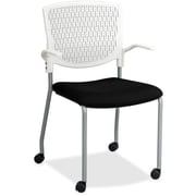 Lorell Plastic Back Guest Chair, White