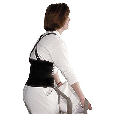 Imp 7379S Standard Back Support, 7'' Back Panel, Single Closure w/Suspenders, Small, Black