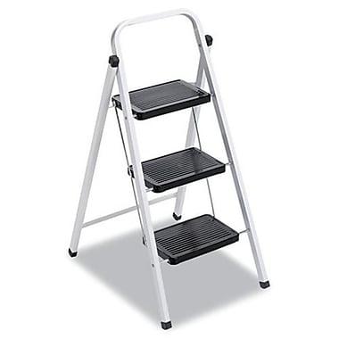 Davidson Quick Step Steel Three-Step Folding Stool, 17inW x 24.25in Spread x 40inH (AZERTY16728)