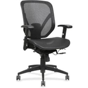 Lorell RTL156623 Mesh Seat/Back Mid-Back Chair, Adjustable Arms, Black