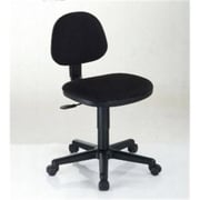 Alvin Comfort Fabric Computer and Desk Office Chair, Armless, Black (ALV6349)
