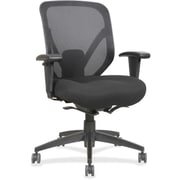 Lorell Fabric Computer and Desk Office Chair, Adjustable Arms, Black (RTL156608)