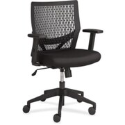 Lorell Flex Leather Computer and Desk Office Chair, Fixed Arms, Black (RTL156491)