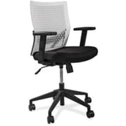 Lorell Flex Leather Computer and Desk Office Chair, Adjustable Arms, Black (RTL156492)