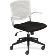 Lorell Fabric Computer and Desk Office Chair, Fixed Arms, White (RTL156468)