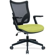 Lorell Fabric Computer and Desk Office Chair, Fixed Arms, Green (RTL156554)